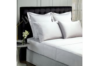 Royal Comfort 1000TC Hotel Grade Bamboo Cotton Sheets Pillowcases Set Ultrasoft - Queen - White