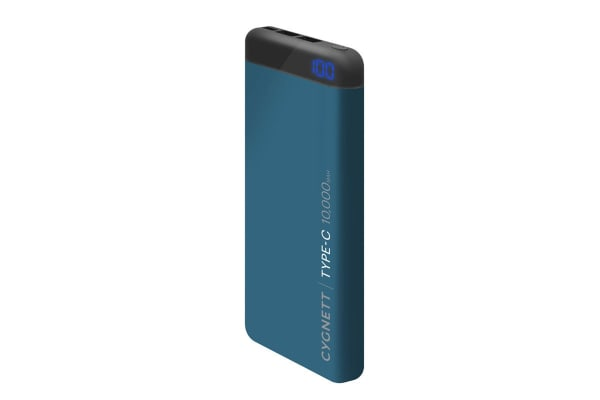 Cygnett ChargeUp Pro 10000 mAh 18W USB-C Power Bank - Teal (CY2223PBCHE)