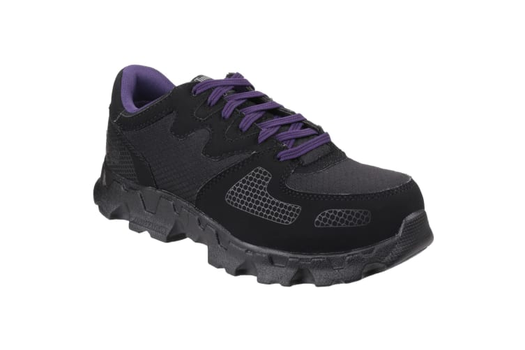 Timberland Pro Womens/Ladies Powertrain Low Lace Up Safety Shoes (Black) (6.5 UK)