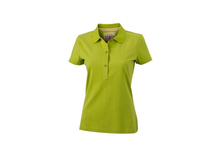 James and Nicholson Womens/Ladies Vintage Polo (Lime Green) (L)