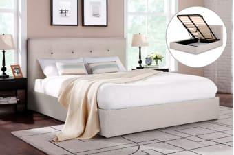 Shangri-La Bed Frame - Portofino Gas Lift Collection (Beige)