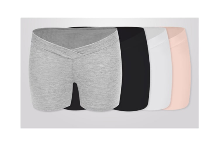 (2 Pack) Pregnant Women Wear Bottompants,Safety Pants To Prevent Low Light Waist Dressing - 8 M