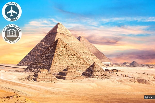 EGYPT: 10 Day Walk Like an Egyptian Tour Including Flights for One