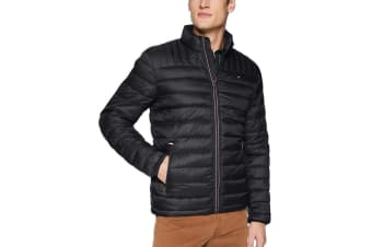 Tommy Hilfiger Men's Ultra Loft Packable Down Jacket (Black)