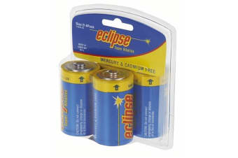 Eclipse Alkaline D Batteries Pk 4  Nipple connection type