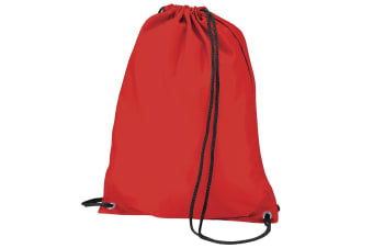 BagBase Budget Water Resistant Sports Gymsac Drawstring Bag (11L) (Red)