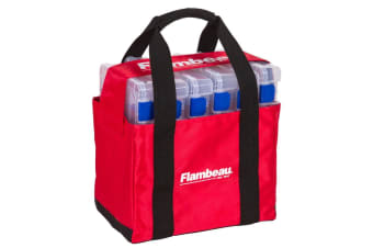 Flambeau 4226 Small Fishing Tackle Tray Tote Bag with Six 4007 Tuff Tainers