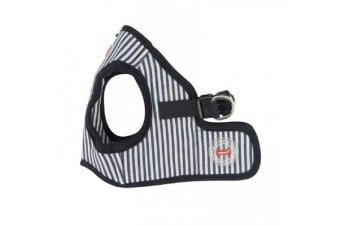 Puppia Bobby Vest Harness Striped Navy - XL