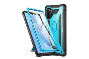 YOUMAKER Galaxy Note 10 HEAVY DUTY ShockProof KickStand Case Cover-blue