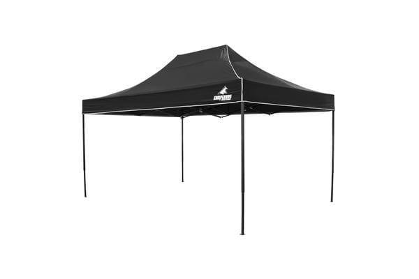 3x4.5m Gazebo Frame + Roof - BLACK