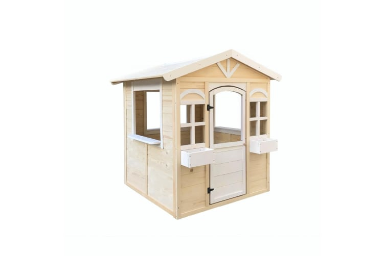 Outdoor Kids Cubby House Wooden Playhouse
