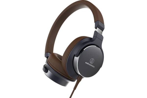 Audio-Technica ATH-SR5BK On-Ear Headphones (Navy Brown)