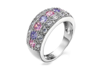 women Cubic Zirconia  Pave Band Ring 11