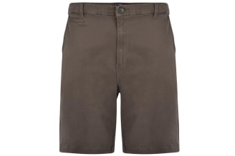 Kam Jeanswear Mens Chino Stretch Shorts (Khaki) (42in)