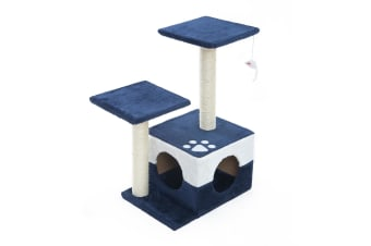 Cat Tree Scratcher MONO 69cm - BLUE