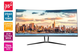 "Kogan 35"" Curved 21:9 Ultrawide 75Hz FreeSync Gaming Monitor (2560 x 1080)"