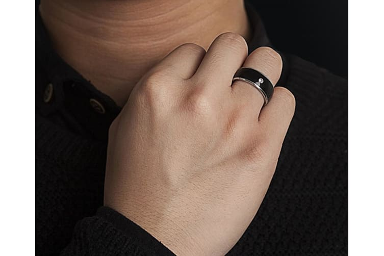 Id Access Control Chip Ring Nfc Smart Titanium Steel Mobile Phone Nfc Chip Ring - Black Black Ic