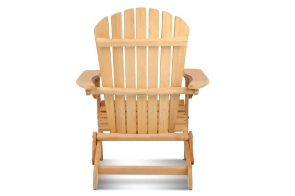 Adirondack Foldable Wooden Deck Chair