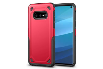 For Samsung Galaxy S10e Case  Red Shockproof Armour Hard Back Mobile Phone Cover