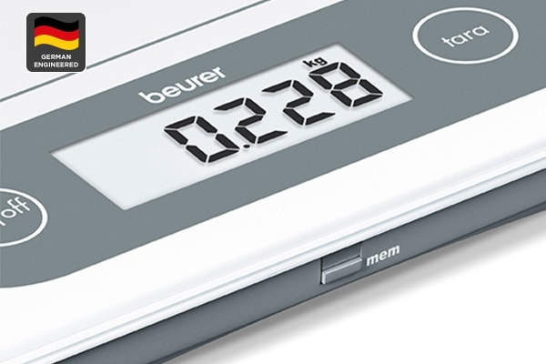 Beurer Multi Use XL Glass Kitchen Scale with Memory Display (KS59XXL)