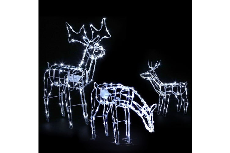 Jingle Jollys Christmas LED Motif Lights Rope Reindeer Waterproof Outdoor