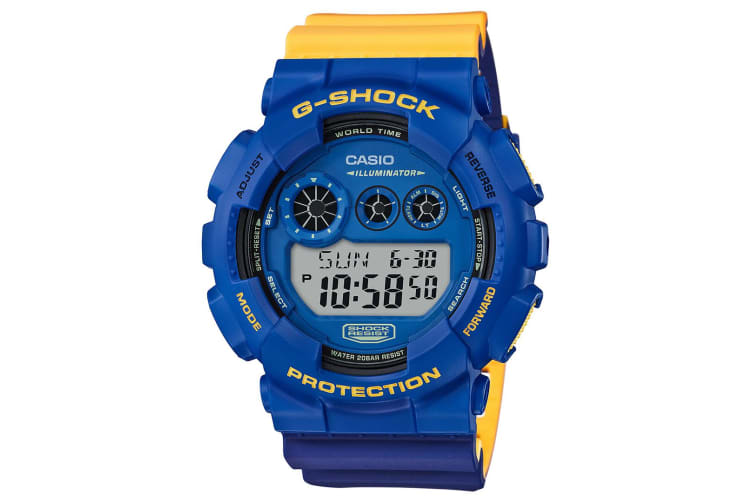 Casio G-Shock x Marok Men's 53mm GD120NC-2D Digital Watch - Blue/Yellow