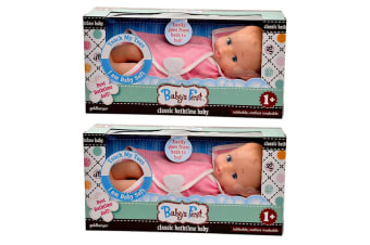 "2PK Baby's First 11"" Classic Bathtime Baby Doll 12m+ Kids/Child Pretend Play Toy"