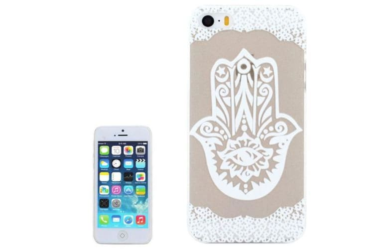 For iPhone SE 5S 5 Case Hamsa Transparent High-Quality Shielding Cover