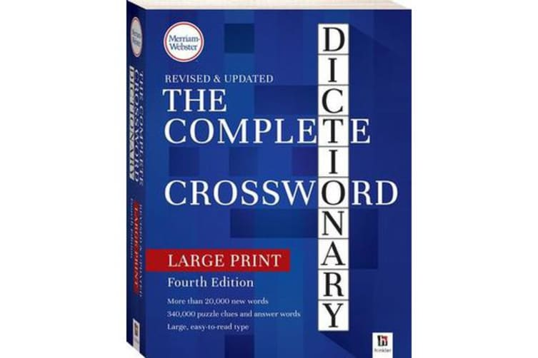 Merriam-Webster Complete Crossword Dictionary 4th Edition