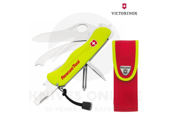 VICTORINOX RESCUE TOOL &  POUCH SHEATH SWISS ARMY KNIFE 35590 SAVE !