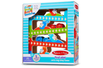 Melissa and Doug First Play Roll and Ring Ramp Tower