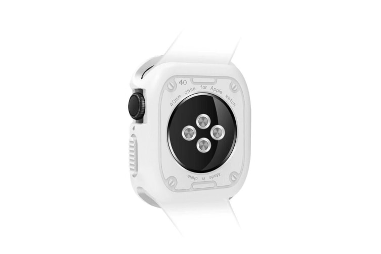 [Rugged Armor] Apple Watch Series 4 5 Case iWatch Cover for 40mm Bumper TPU-White