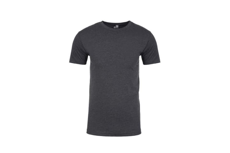 Next Level Adults Unisex Suede Feel Crew Neck T-Shirt (Heather Metal) (XL)