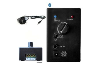 Audio Amp Wireless Bluetooth Receiver Adapter w/3.5mm Aux In for Stereo Speaker/
