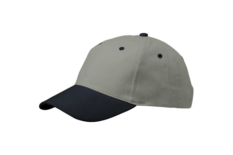 Slazenger Grip 6 Panel Cap (Grey/Navy) (26.5 x 18 x 13 cm)
