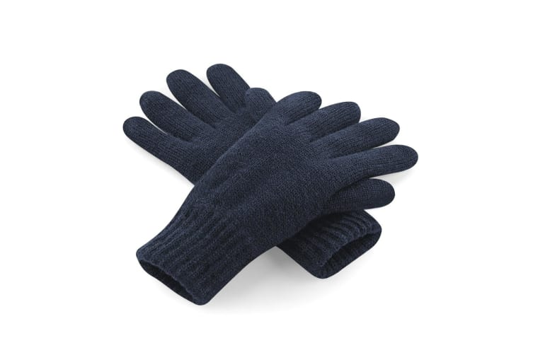 Beechfield Unisex Classic Thinsulate Thermal Winter Gloves (French Navy) (L/XL)