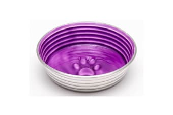 Loving Pets Lilac Le Bol Dogs Bowl (Stainless Steel/Purple)