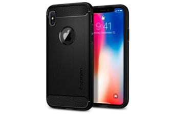 Spigen iPhone X Rugged Armor Case Black