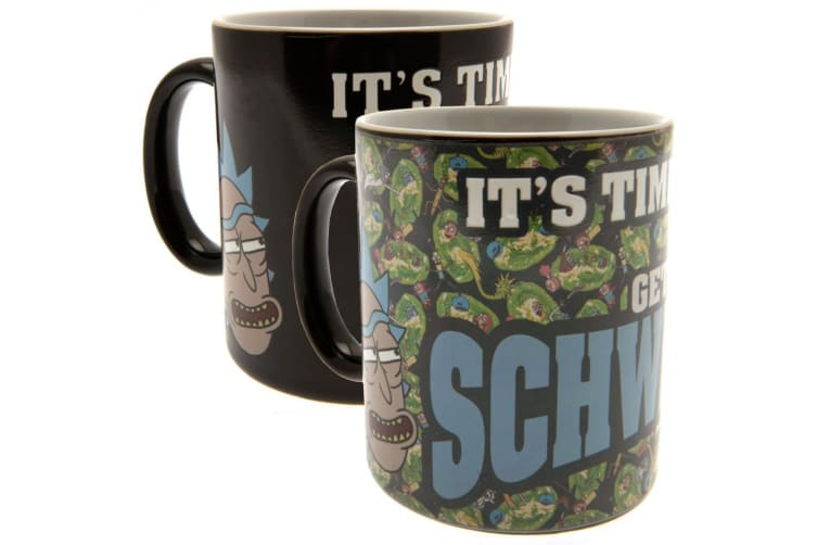 Rick And Morty Official Schwifty Heat Changing Mug (Black/Green) (One Size)