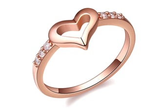 Sheer Love Ring-Rose Gold/Clear Size US 8