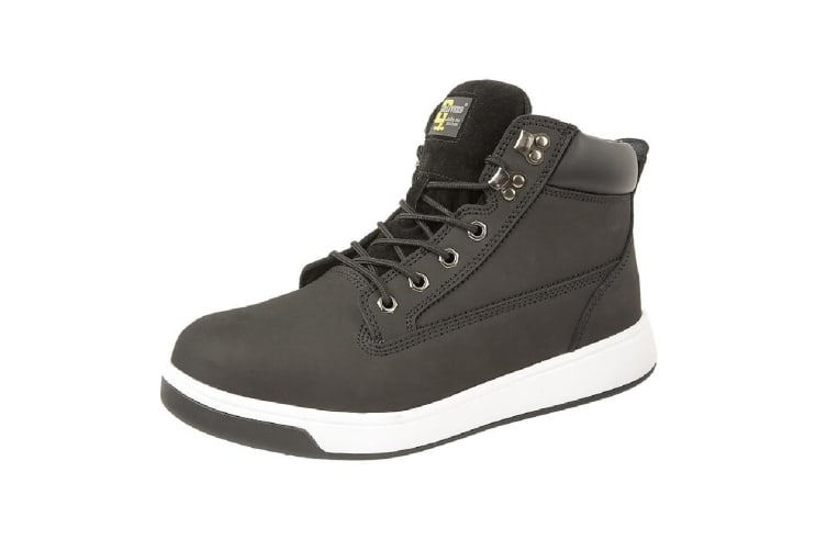 Grafters Mens Toe Capped Safety Trainer Boots (Black) (4 UK)