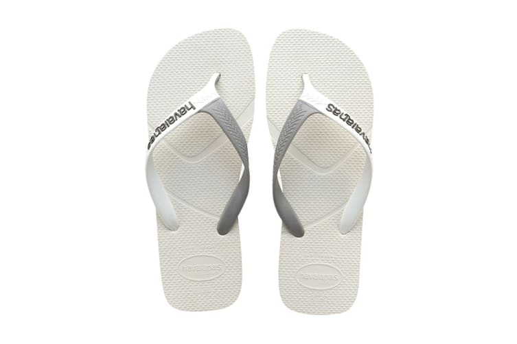 Havaianas Casual Thongs (White/Grey, Size 39/40 BR)