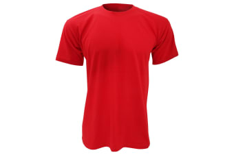 B&C Mens Exact 150 Short Sleeve T-Shirt (Red) (L)
