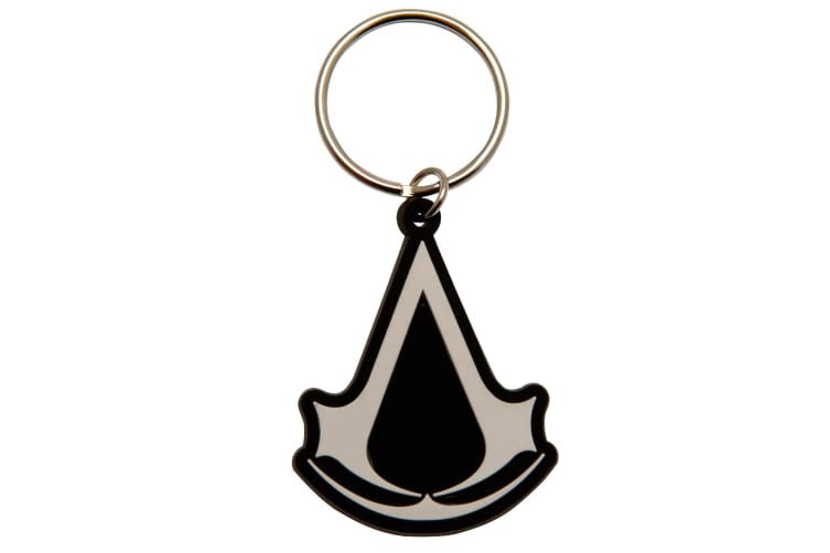 Assassins Creed Lanyard And Keyring Set (White/Black/Red) (One Size)
