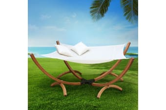 Patio Outdoor Furniture Double Timber Hammock 2 Person Lounge