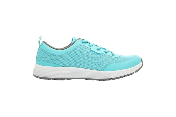 King Gee Women's Superlite Mesh Lace Shoe (Teal, Size 5.5)