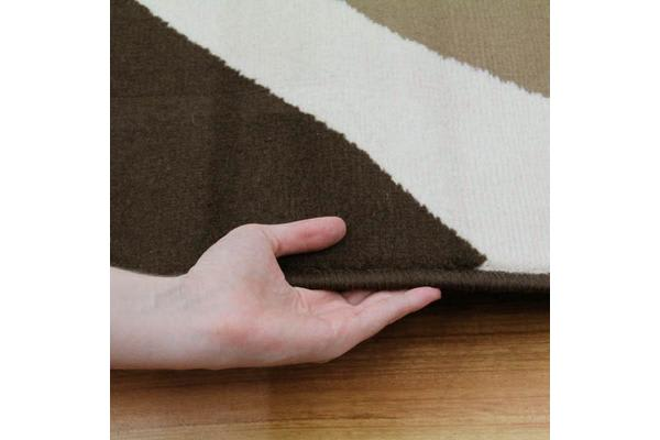 Funky Retro Pattern Rug Brown Beige Cream 230x160cm