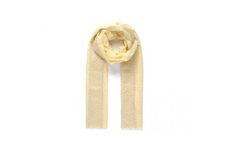 Intrigue Womens/Ladies Scarf With Lace (Yellow) (One Size)
