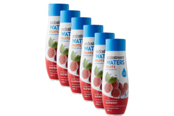 6x Sodastream Waters Fruits Raspberry 440ml Sparkling Water Syrup/Sweetened Mix
