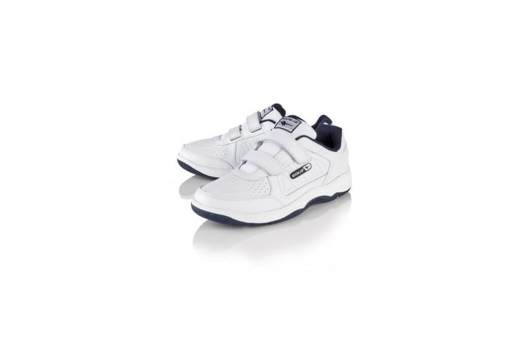Gola Mens Belmont WF Wide Fit Trainers (White/Navy) (14 UK)